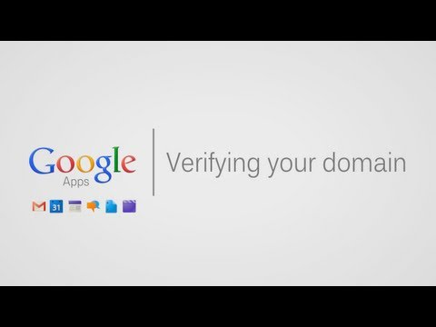 Verifying your Google Apps Domain
