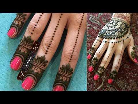 easy jewellery finger henna design by w_s fashion and mihndi#3