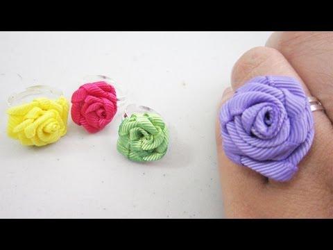 Episodio 594 - Mini Fashion DIY Cómo hacer un anillo de rosas de ...