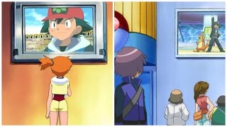 Misty watches Ash on TV (plus others)