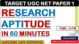 Learn Research Aptitude in 60 Minutes -  UGC NET Paper 1