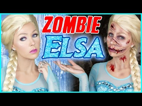 Zombie Elsa VS Queen Elsa Halloween Makeup Tutorial! | DIY Emoji Halloween Costumes!