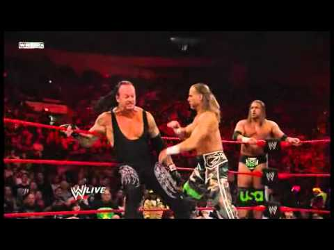 Undertaker And Cena Vs Big Show And Jericho Vs Hbk And Hhh 2009 video