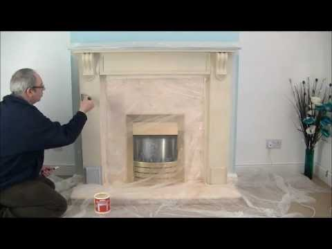 Painting Fireplace Stone White