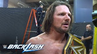 WWE World Champion AJ Styles addresses controversial match ending: Backlash 2016 Exclusive