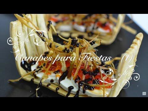 Canapés para Fiestas 1 - Fáciles, originales y baratos - Recetas de Cocina por Chef de mi Casa.com