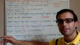 Curso de inglés 44 - Cuánto / Cuántos (How much/How many)