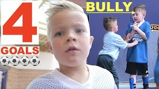 Kid Scores 4 Soccer Goals and confronts a SOCCER BULLY!