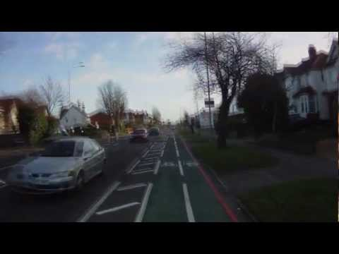 Croydon Road Cycle Lane (A232) - Riding the contra flow