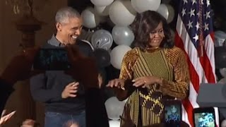 President Obama, Michelle Dance to Thriller