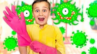 Детские истории про вирусы | Адам и Алиса мойте руки - правила поведения для детей.