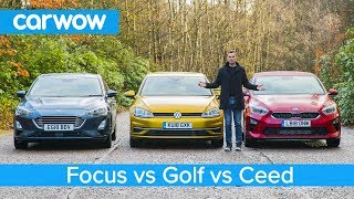 Volkswagen Golf v Ford Focus v Kia Ceed - which is the best small family car?