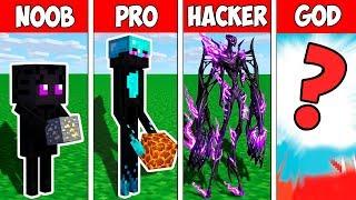 Minecraft NOOB vs PRO vs HACKER vs GOD : ENDERMAN MONSTER EVOLUTION BATTLE in Minecraft ! Animation