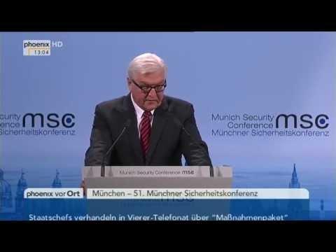Münchner Sicherheitskonferenz: Reden von Frank-Walter Steinmeier und John Kerry am 08.02.2015