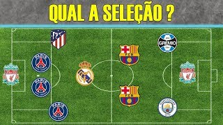 Soccer Quiz - Try to guess the selection for the team of players!