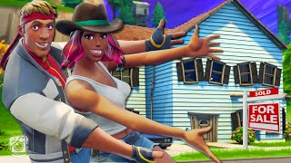 CALAMITY AND DIRE BUY THEIR FIRST HOME AND IT'S HAUNTED?! - A Fortnite Short Film