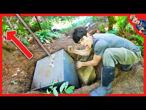 Pulling BIGGEST HIDDEN ABANDONED SAFE EVER out of Hole With Go-kart