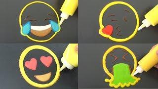 Emoji Faces Pancake Art - Smiling Tears, Blowing Kisses, Heart Eyes, Vomit