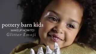 Easy Halloween Makeup Tutorial - Glitter Emoji Costume for Pottery Barn Kids