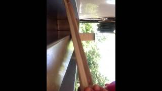 How to repair broken cords on a honeycomb shade