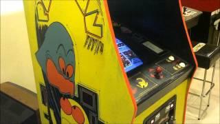 Original Stand up Pac-Man Arcade Machine Restoration