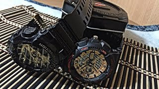 BEST Clone of  casio G-shock GA series vs authentic unboxing ,review + how to spot a fake G- shock