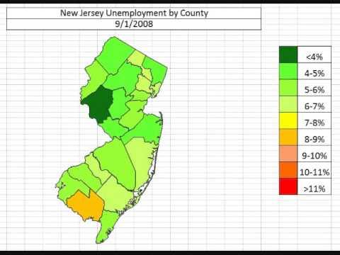 Map: New Jersey Unemployment November 2013