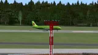 Перелет Москва-Барнаул A320  FSX