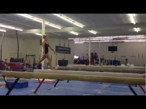 Nastia Liukin - Looking good in beam training