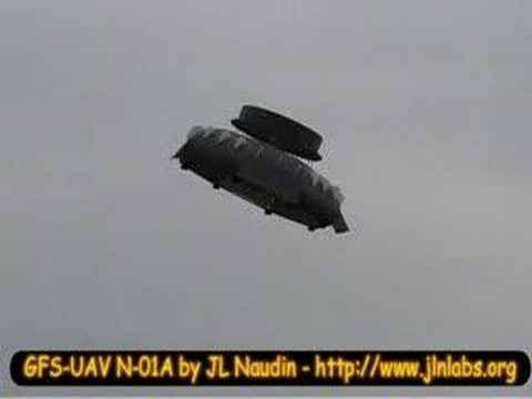 Coanda Effect RC Flying Saucer test flight