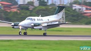 [SBFZ/ FOR] Pouso RWY13 Beechcraft F90 King Air PT-LUT 28/05/2017
