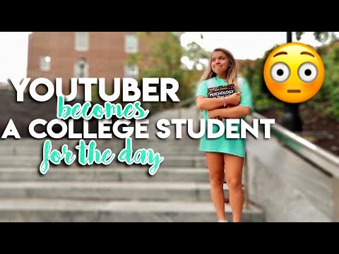 youtuber SNEAKS into COLLEGE CLASSES for a day