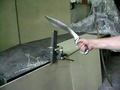 Σπαθιά - Κοπίδα με Δερμάτινη Λαβή