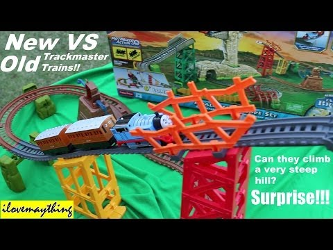 New Versus Old Thomas & Friends Trackmaster Trains - Avalanche Escape Set video