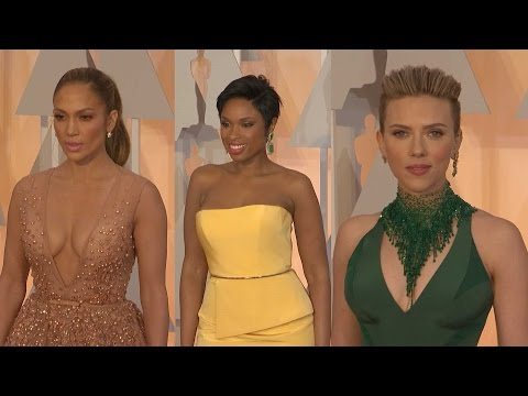 Oscars Fashions:  J Lo, J Hud and Scarlett Johansson