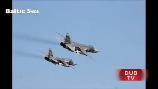 RUSSIAN SU-24 JETS fly over U.S. NAVY SHIP in Baltic!