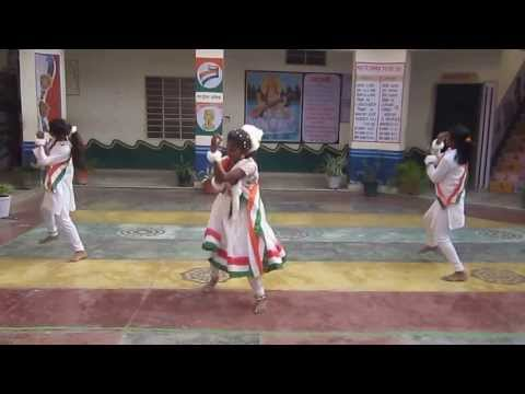 Group Dance Vande Matram By Kasturba Gandhi School Girls video