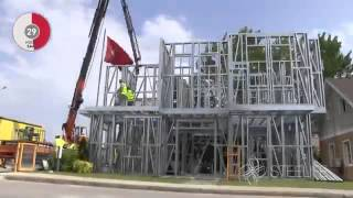 time lapsed construction of 2 storey house
