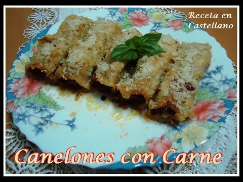 Canelones con Carne receta facil