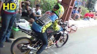 KAJEN Drag Bike DICKY UCIL VS NICO SAKAW Class BRACKET TIME 8 DETIK Open