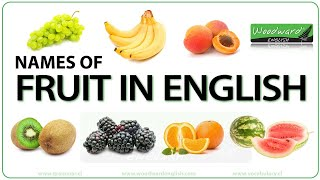 Fruit in English - Vocabulary