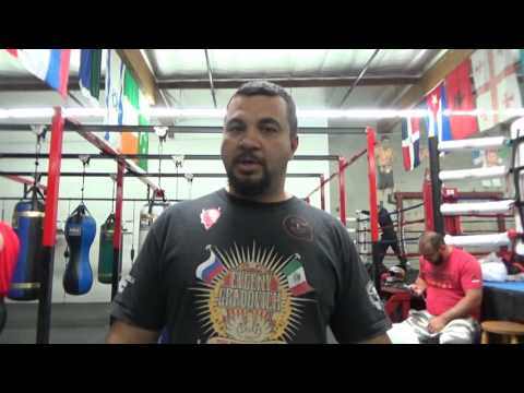 Kazakhstan National Anthem Flag And Boxing Stars At Robert Garcia Boxing Academy In Oxnard