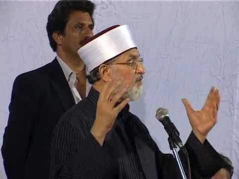 K. Rahman Khan and Shaikh-ul-Islam Dr. Muhammad Tahir-ul-Qadri addressing the meeting at New Delhi