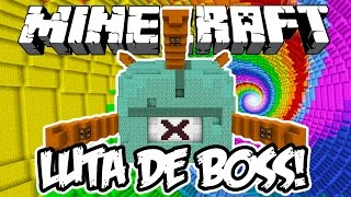 LUTA DE BOSS GUARDIÃO! - Minecraft (Boss Fight)