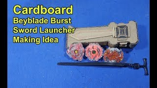 Beyblade Burst sword Launcher For Cardboard | How to make a Powerful sword launcher Making Idea