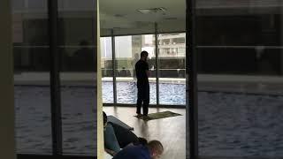 Khabib Nurmagomedov praying in Dubai