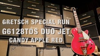 Gretsch Special Run G6128TDS Duo Jet in Candy Apple Red Overview