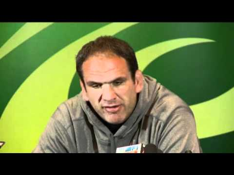England Boss Martin Johnson's press conference pre France - England Boss Martin Johnson's press conf