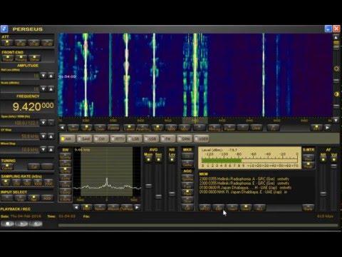 Helliniki Radiophonia (Greek) 9.420 MHz Shortwave - Perseus SDR + Wellbrook