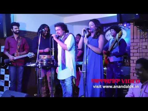 Bickram Ghosh, Timir Biswas and Imon Chakraborty perform at 'Durga Sohay' music launch